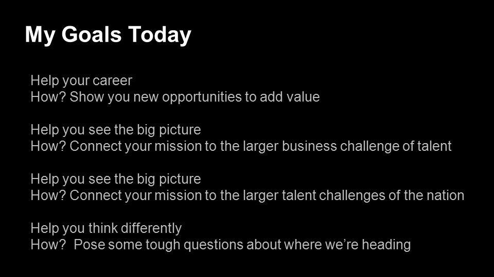 My Goals Today Help your career