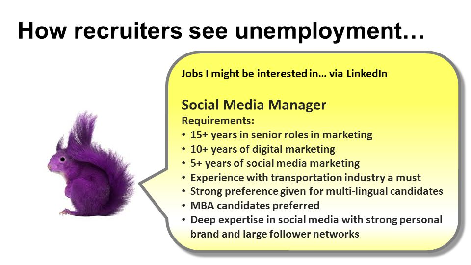 How recruiters see unemployment…
