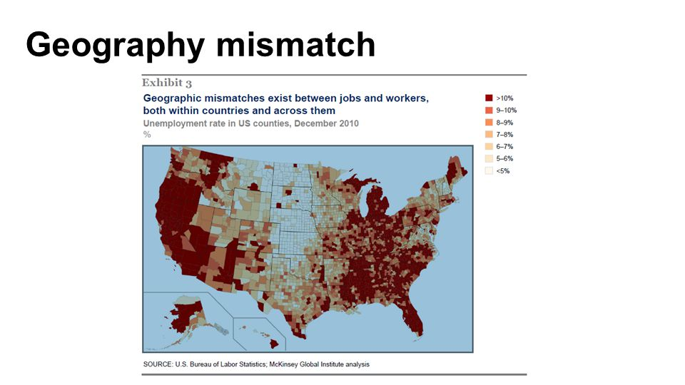 Geography mismatch McKinsey: Help Wanted Future of Work
