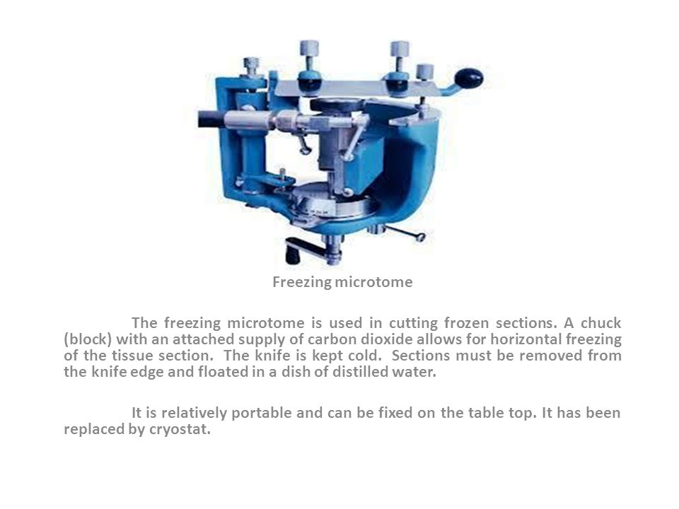 Freezing microtome