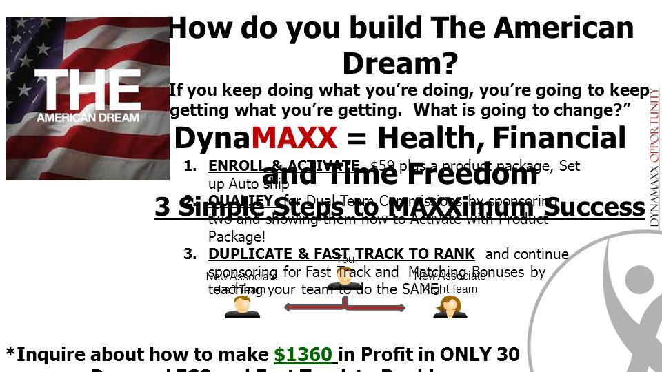 How do you build The American Dream