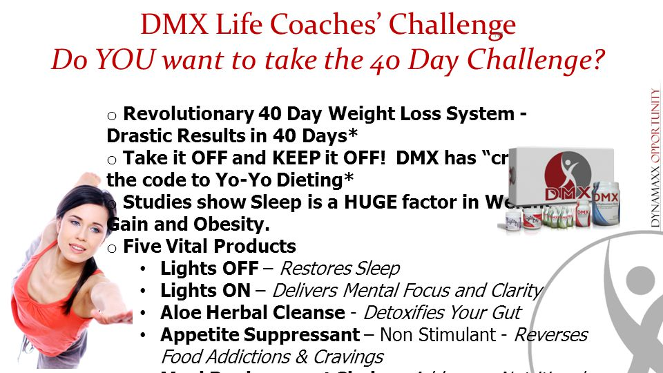 DMX Life Coaches' Challenge Do YOU want to take the 40 Day Challenge