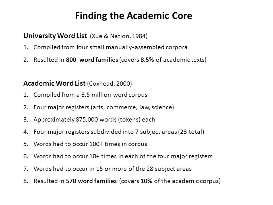 Finding the Academic Core