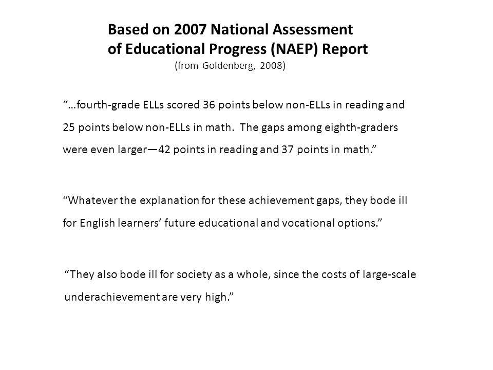 Based on 2007 National Assessment