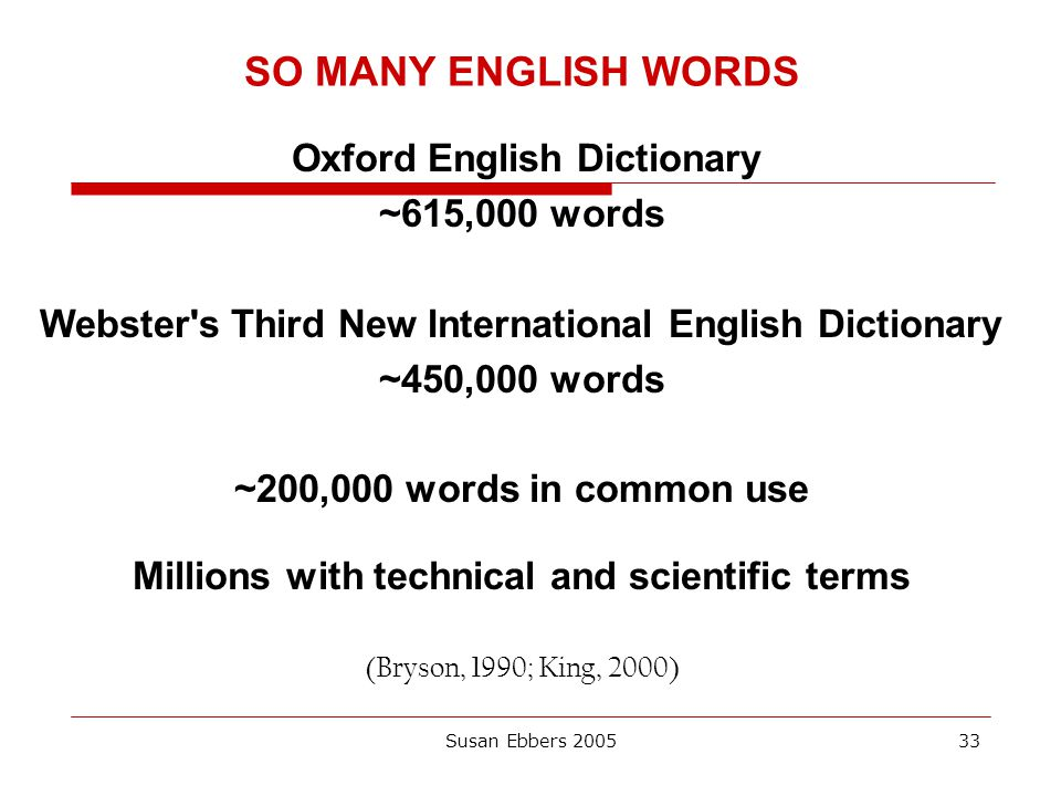 SO MANY ENGLISH WORDS ~615,000 words