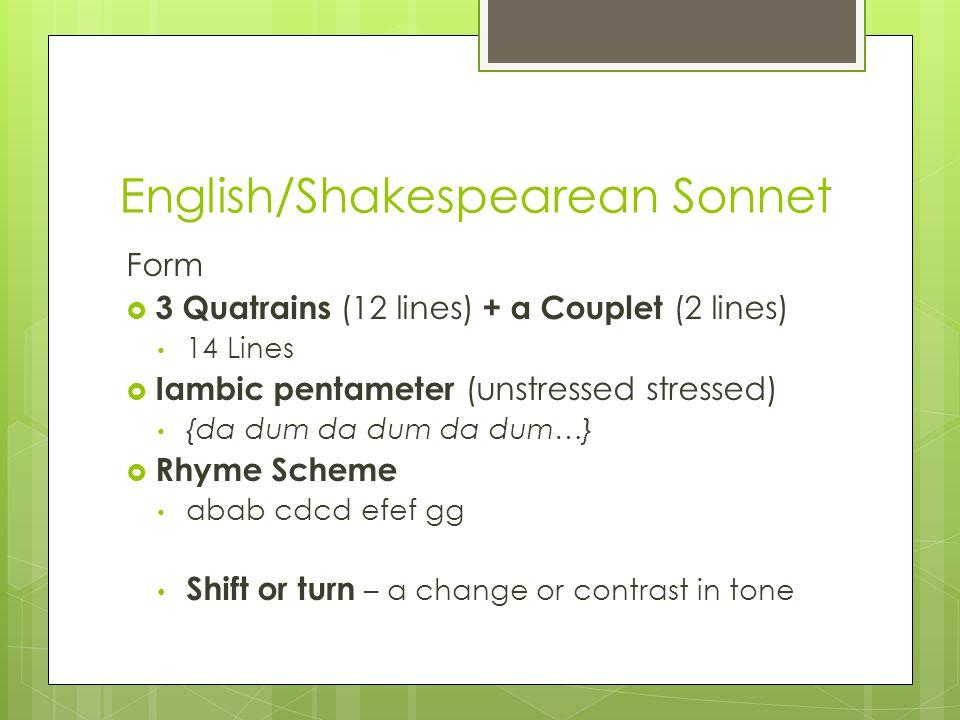 English/Shakespearean Sonnet