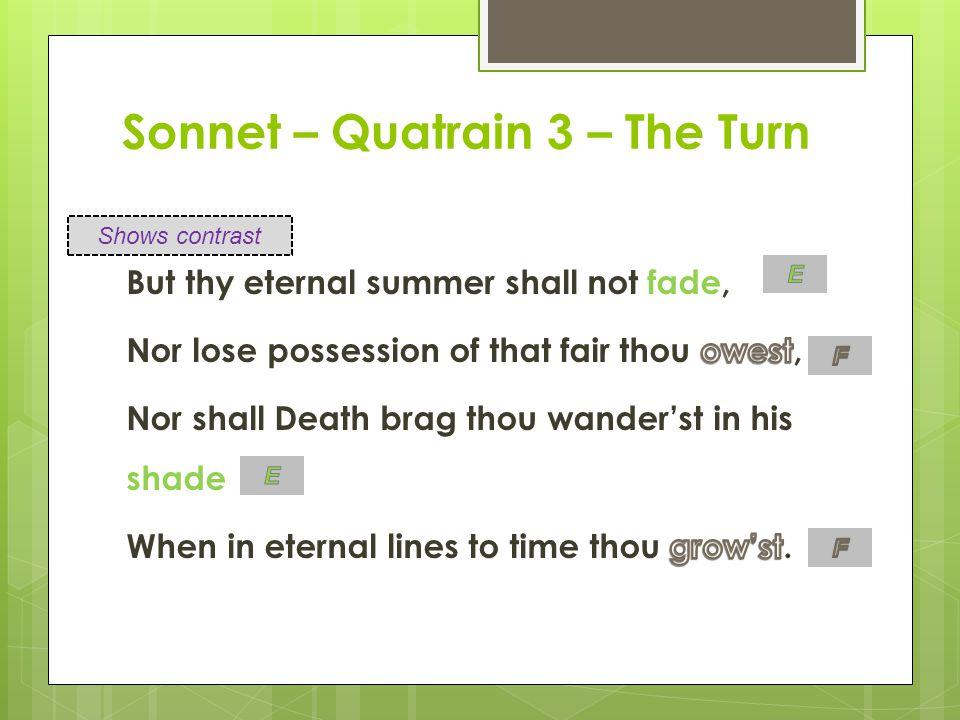 Sonnet – Quatrain 3 – The Turn
