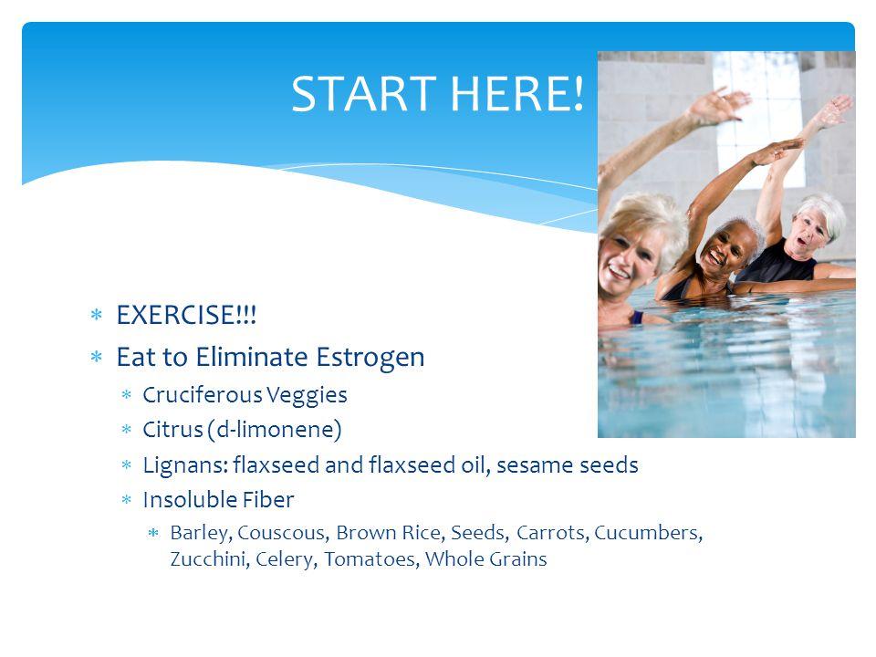 START HERE! EXERCISE!!! Eat to Eliminate Estrogen Cruciferous Veggies