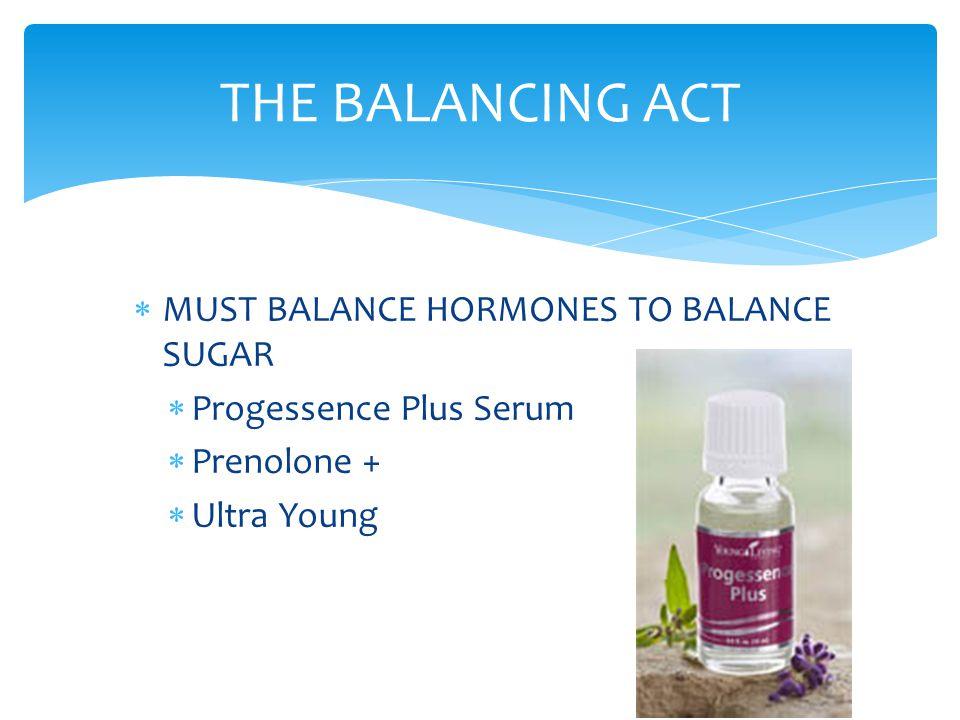 THE BALANCING ACT MUST BALANCE HORMONES TO BALANCE SUGAR