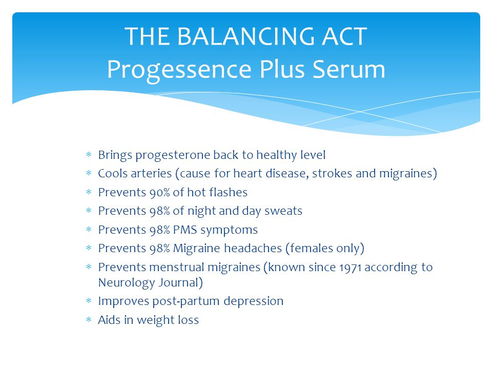 THE BALANCING ACT Progessence Plus Serum