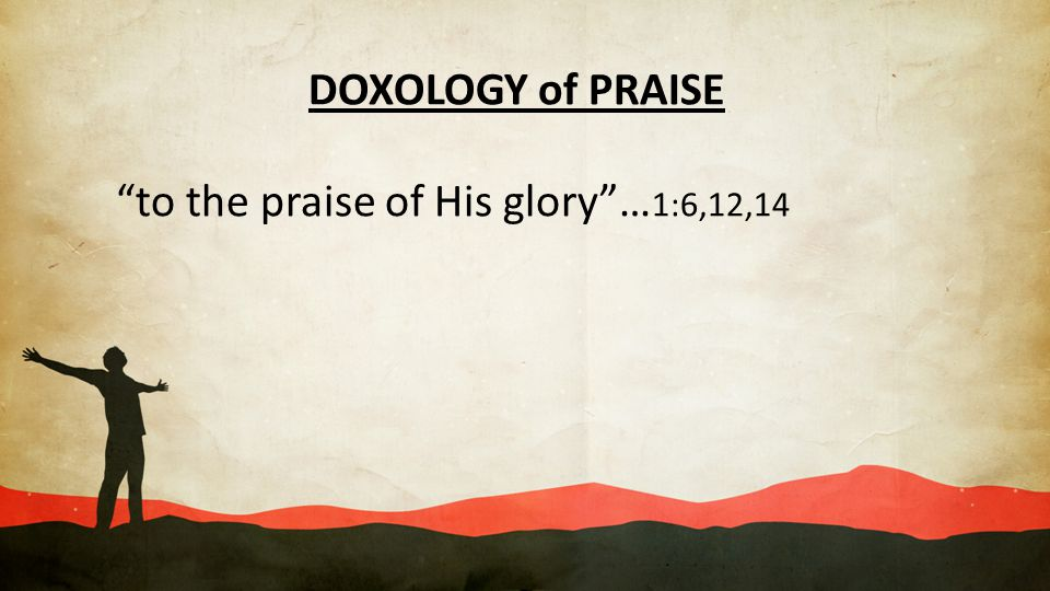 DOXOLOGY of PRAISE to the praise of His glory …1:6,12,14