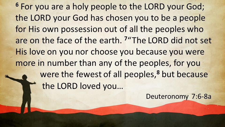 6 For you are a holy people to the LORD your God;