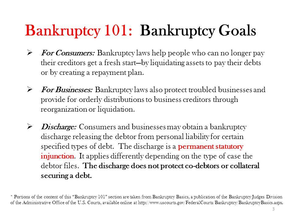 Bankruptcy 101: Bankruptcy Goals