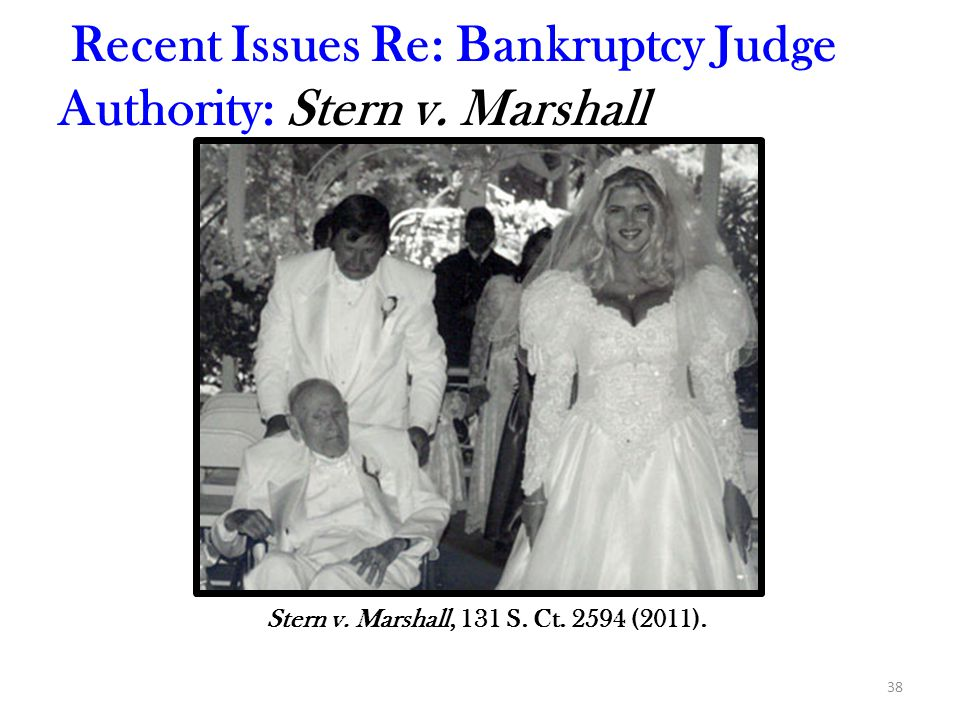 Recent Issues Re: Bankruptcy Judge Authority: Stern v. Marshall
