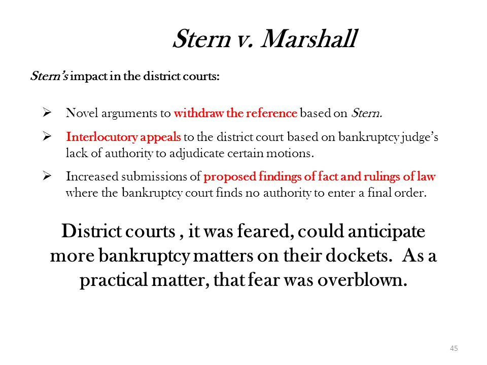 District courts , it was feared, could anticipate