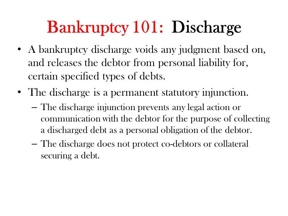 Bankruptcy 101: Discharge