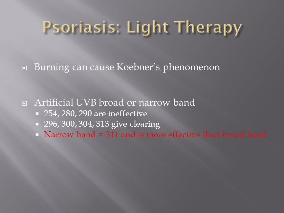 Psoriasis: Light Therapy