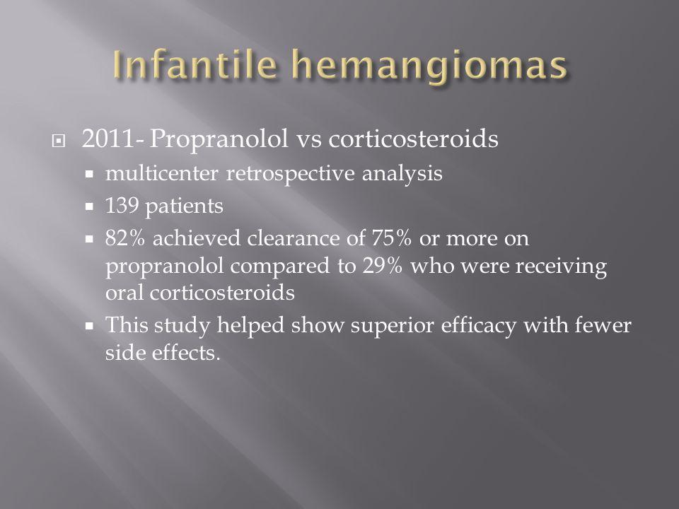 Infantile hemangiomas