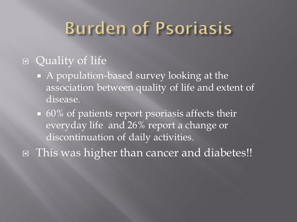 Burden of Psoriasis Quality of life