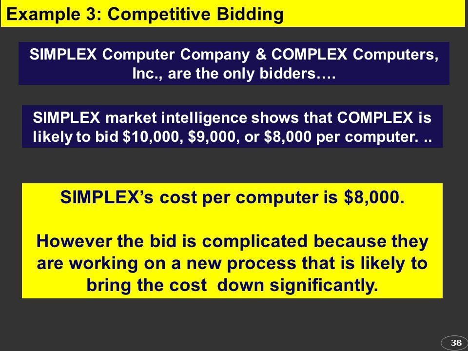 SIMPLEX's cost per computer is $8,000.