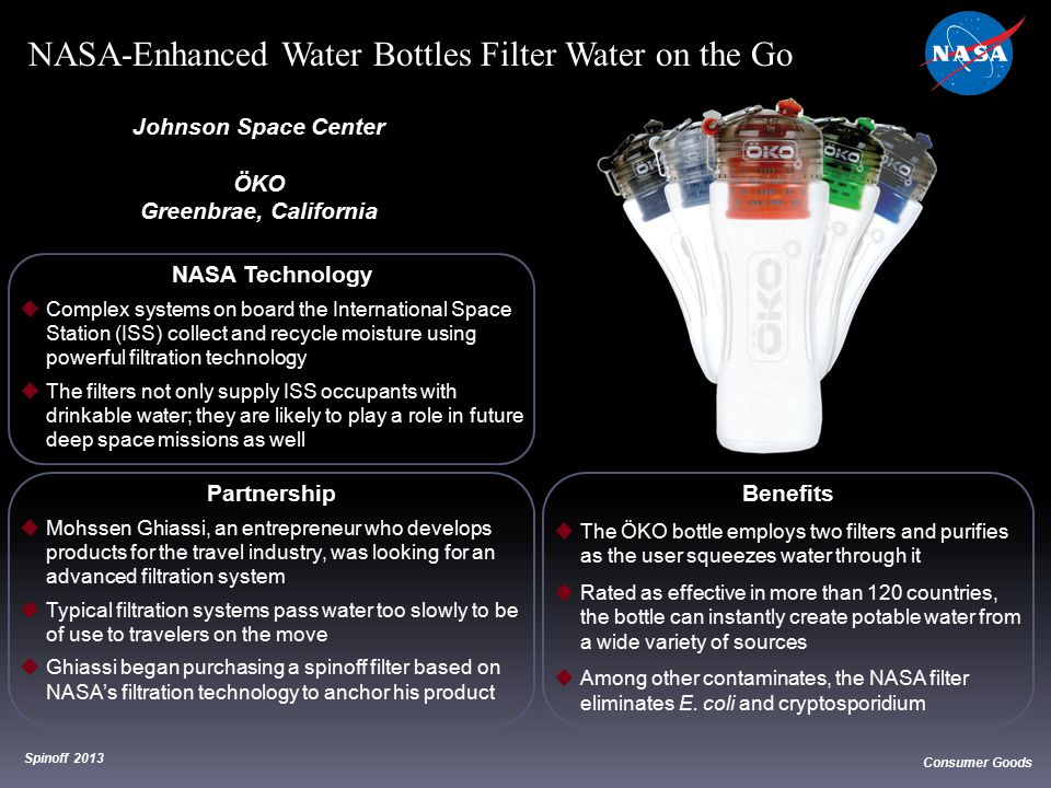 NASA-Enhanced Water Bottles Filter Water on the Go