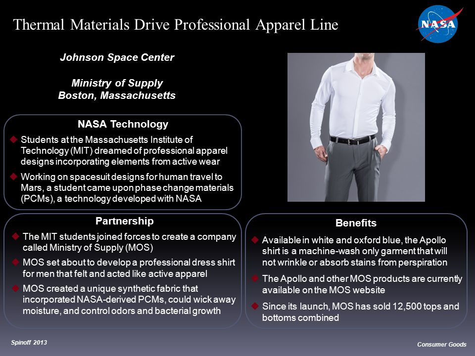 Thermal Materials Drive Professional Apparel Line