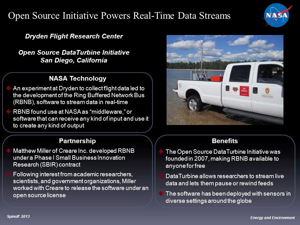 Dryden Flight Research Center Open Source DataTurbine Initiative