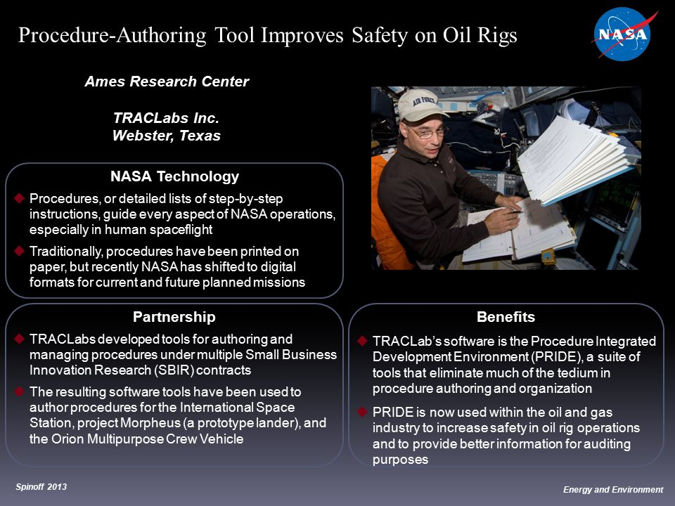 Procedure-Authoring Tool Improves Safety on Oil Rigs