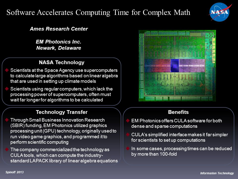 Software Accelerates Computing Time for Complex Math