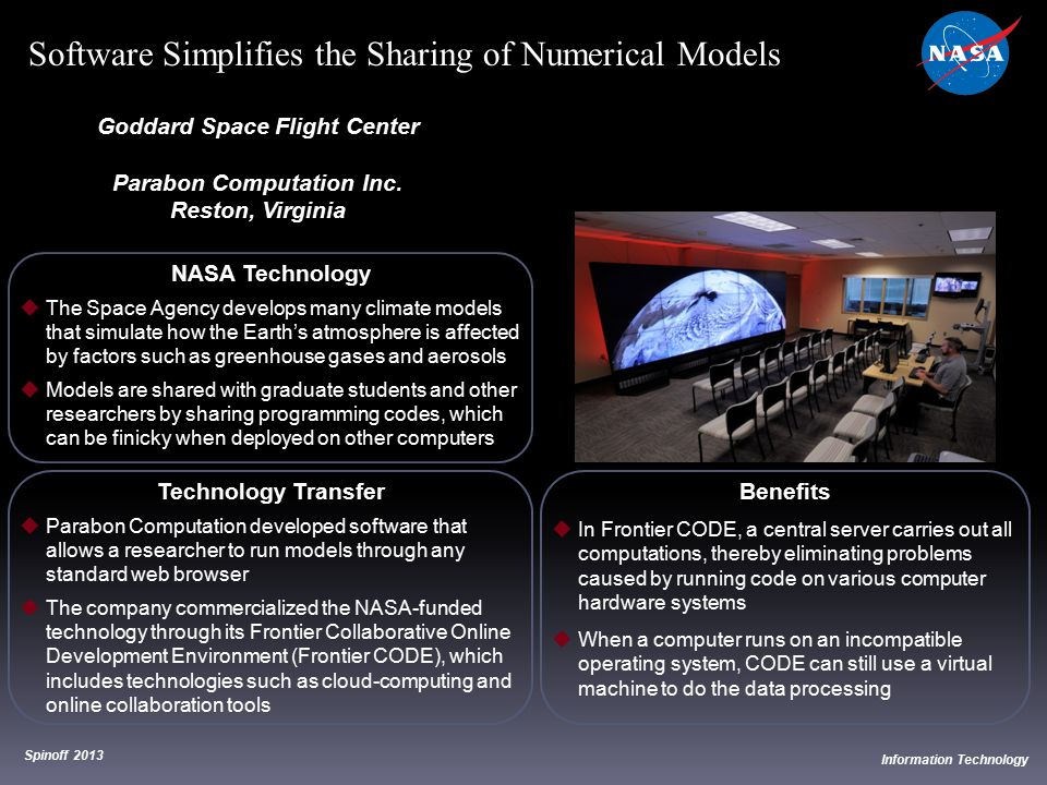 Goddard Space Flight Center Parabon Computation Inc.