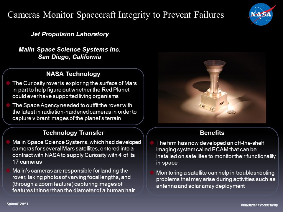 Jet Propulsion Laboratory Malin Space Science Systems Inc.