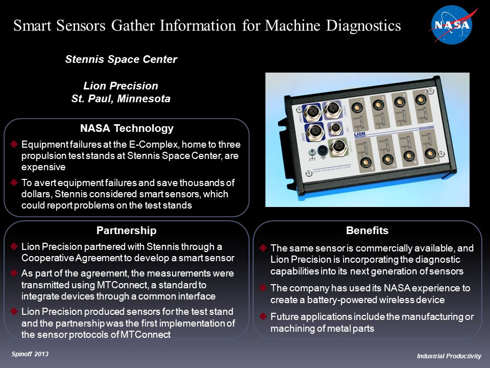 Smart Sensors Gather Information for Machine Diagnostics