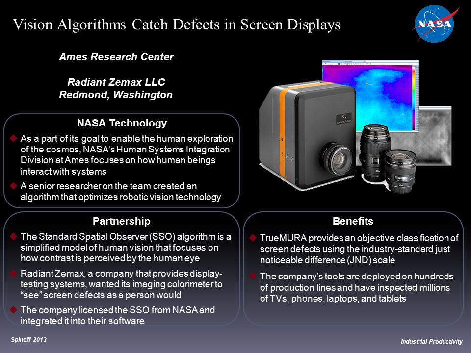 Vision Algorithms Catch Defects in Screen Displays