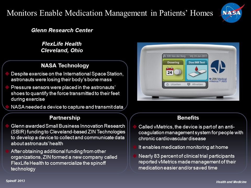 Monitors Enable Medication Management in Patients' Homes