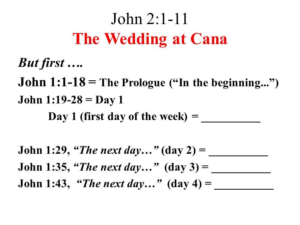 John 2:1-11 The Wedding at Cana