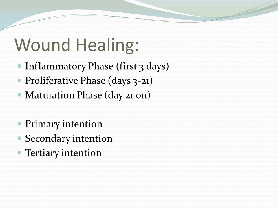 Wound Healing: Inflammatory Phase (first 3 days)
