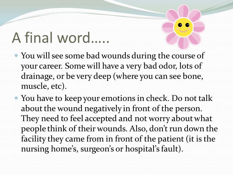 A final word…..