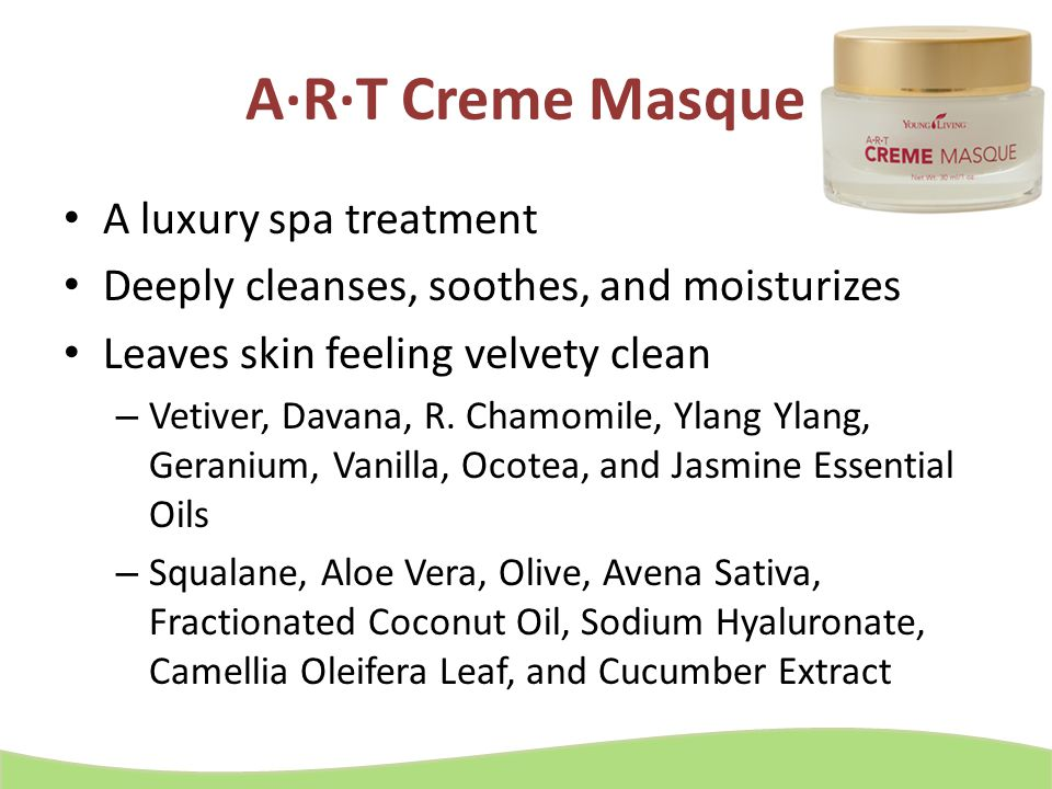 A·R·T Creme Masque A luxury spa treatment