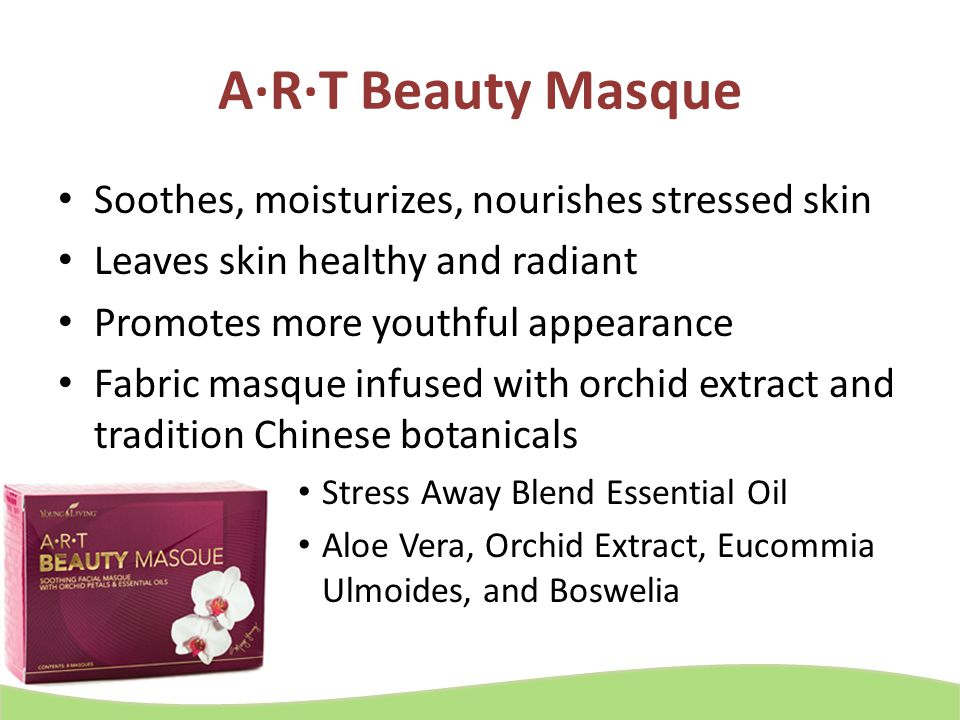A·R·T Beauty Masque Soothes, moisturizes, nourishes stressed skin