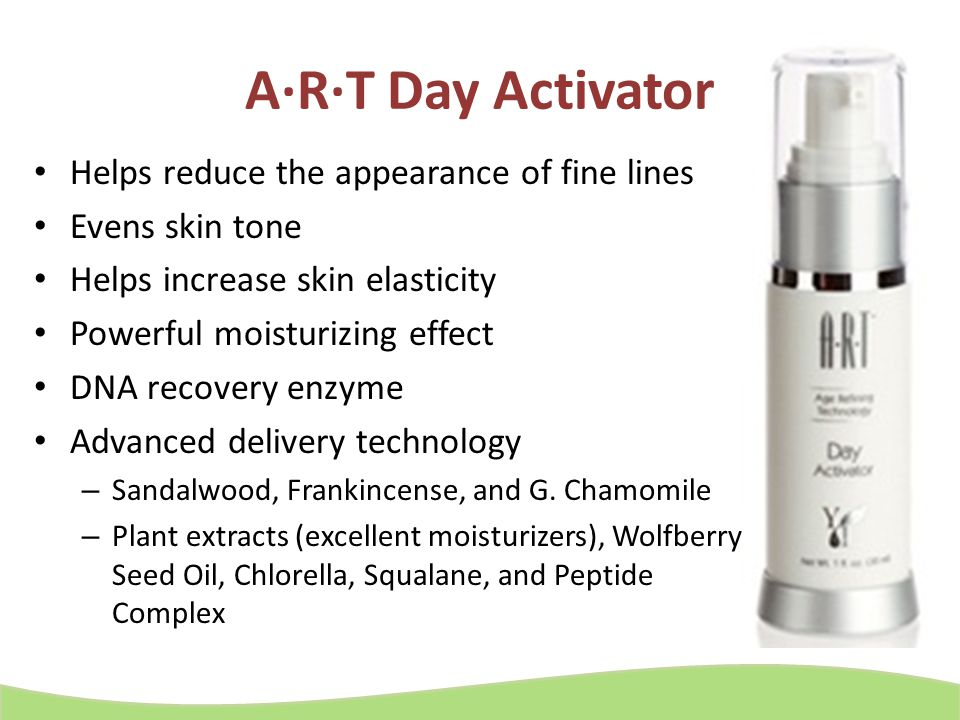 A·R·T Day Activator Helps reduce the appearance of fine lines