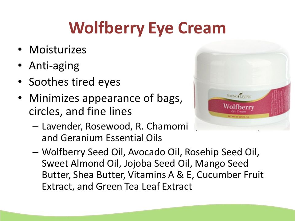Wolfberry Eye Cream Moisturizes Anti-aging Soothes tired eyes