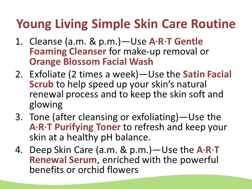 Young Living Simple Skin Care Routine