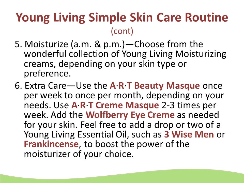 Young Living Simple Skin Care Routine (cont)