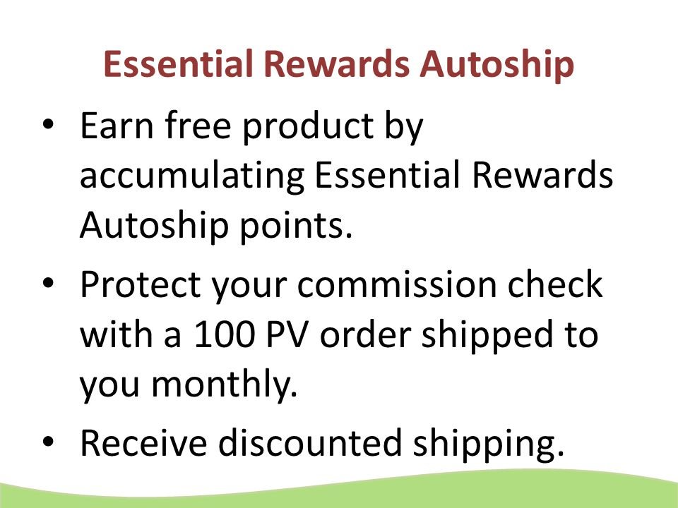Essential Rewards Autoship
