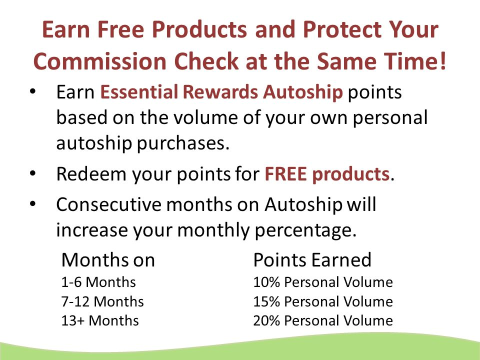 Earn Free Products and Protect Your Commission Check at the Same Time!