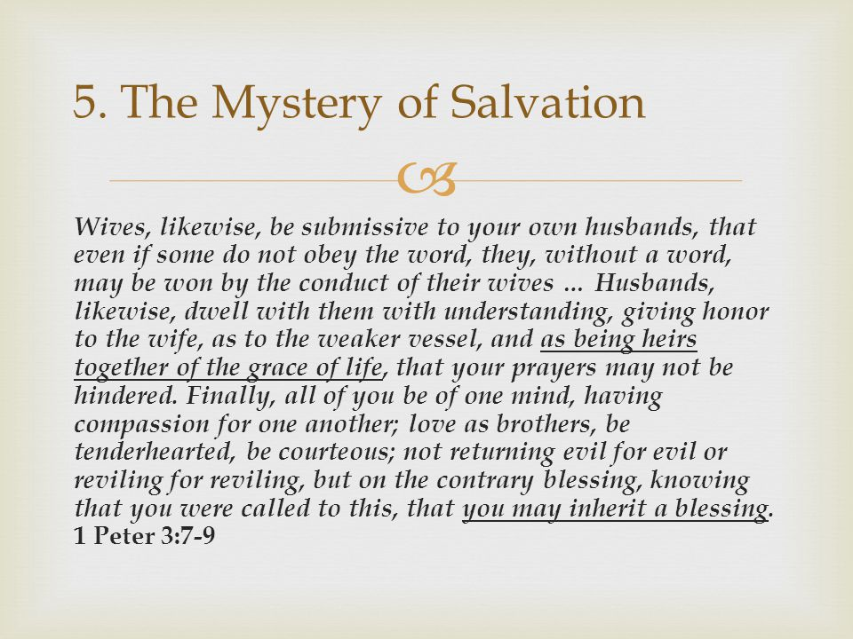 5. The Mystery of Salvation