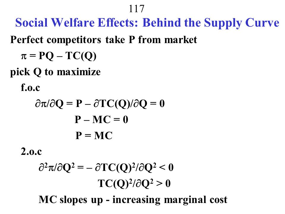 Social Welfare Effects: Behind the Supply Curve