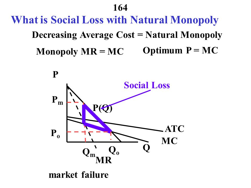 What is Social Loss with Natural Monopoly