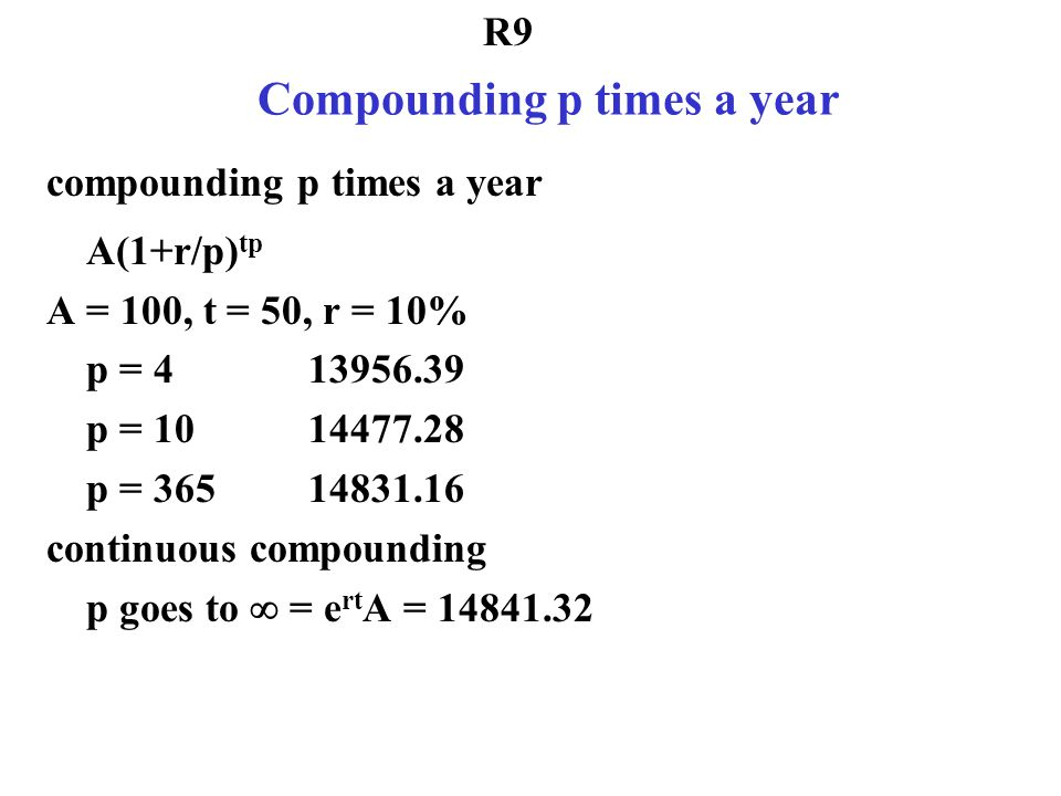 Compounding p times a year