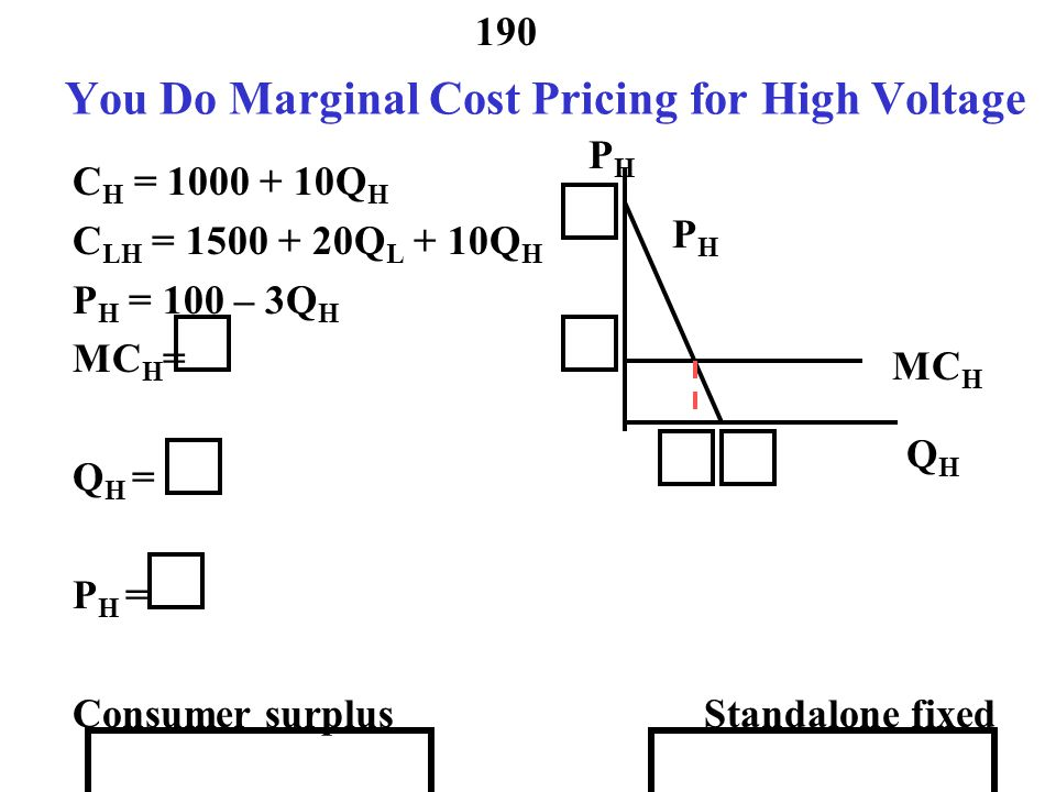 You Do Marginal Cost Pricing for High Voltage